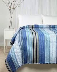 Ocean Bedspread Ocean Blue Stripe Full Queen Quilt Set Nautical White