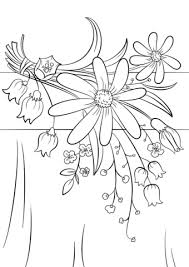 summer flowers coloring free printable coloring pages