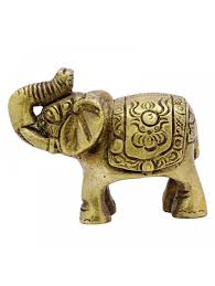 elephant figurine indian statue metal decoration animal sculpture
