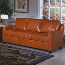 2017 first rate reclining caramel color leather sofa with studs