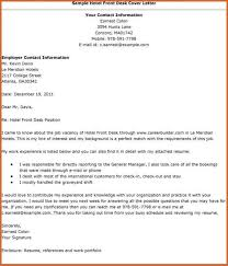 cover letter for hotel front desk 28 images leading