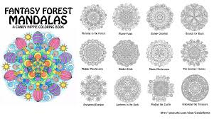 fantasy forest mandalas coloring book by candy hippie on deviantart