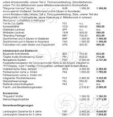 lamborghini car price list interested in the huracán these are the available options
