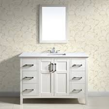 42 Inch Bathroom Cabinet White Bathroom Vanities With Tops With Simple Trend In Germany