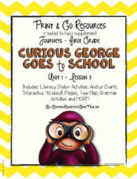 curious george journeys grade print