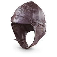 leather motorcycle helmet german military style leather aviator helmet 220888 hats u0026 caps