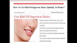 it looks like a simple ingrown hair within his chest how to get rid of ingrown hairs quickly at home youtube