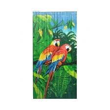 bamboo54 natural bamboo rayon double parrot scene single curtain