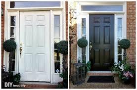 how to paint the front door front door makeover with new paint diy beautify
