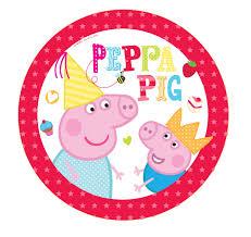 peppa pig birthday peppa pig plates pack of 8 peeks
