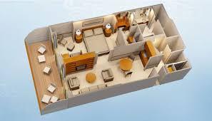 Disney Fantasy Floor Plan Disney Cruise Line Staterooms 1 And 2 Bedroom Concierge Suites