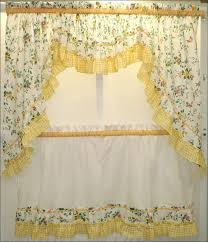 Red And White Curtains For Kitchen by Kitchen White Curtain Panels Black And White Curtains Yellow