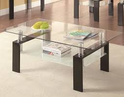 Floating End Table by Chicago Furniture Stores Modern Metal U0026 Glass Coffee Table