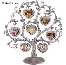 gift tree free shipping customize photo metal photo frames family baby tree design 7