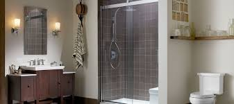 sliding shower shower doors showering bathroom kohler
