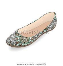vector shoes womens ballet slippers multicolor stock vector