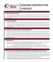 construction checklist template 14 free word pdf documents