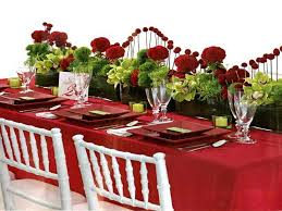 Wedding Table Decorations Ideas Red Christmas Table Decorations U2013 Martaweb