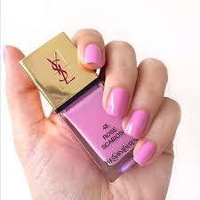 ysl rose scabiosa la laque couture nail lacquer review photos and