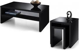 buy nest of tables julian bowen metro occasional tables high gloss black or white