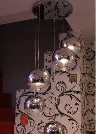 6 sizes chrome modern tom dixon glass mirror ball pendant lamp