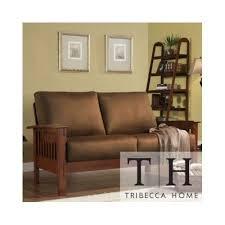 mission style sofa amazon com