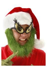 fur christmas grinch hat with fur beard