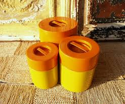 yellow canister sets kitchen mad men kitchen mid century modern canister set pers u2026 flickr
