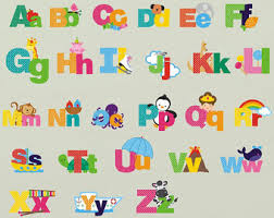 Letter Wall Decals For Nursery Rainbow Tie Dye Alphabet Letters Wall Decals Hippie