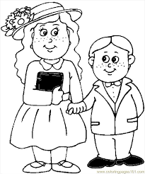 clothes coloring pages kids in easter clothes coloring page free holidays coloring