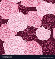 burgundy flowers seamless pattern of pink and burgundy flowers with