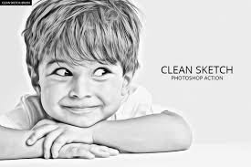 check out clean sketch photoshop action by iconfactory on