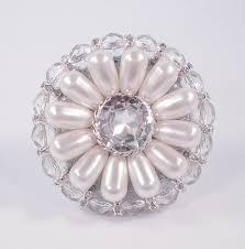 unique decorative cabinet knob swarovski crystal u0026 white pearl