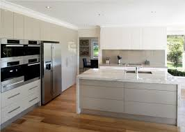 High Gloss Acrylic Kitchen Cabinets by Imposing Creamy High Gloss Acrylic Modern Kitchen Cabinets With