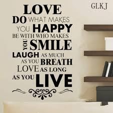 diy happy live laugh love smile inspirational quote wall art vinyl aeproduct getsubject