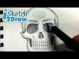 how to shade a skull pencils