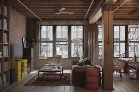 outstanding industrial loft furniture with wooden bookcase plus