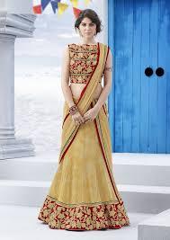 lancha dress dn2583 lehenga 4402 beige indian ethnic wear and silk