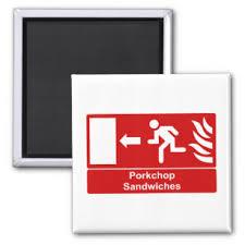 Pork Chop Sandwiches Meme - internet meme refrigerator magnets zazzle