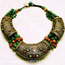 antique sterling silver necklace images Handembroidered decorative mkashmir fine arts crafts jpg