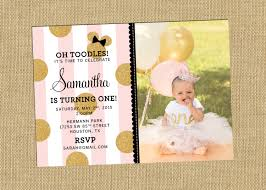 Minnie Mouse Invitation Card Minnie Party Invitation Metallic Minnie Mouse Party Pink Gold