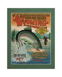 Wyoming travel posters images Wyoming trout poster wall art pinterest wyoming trout and jpg