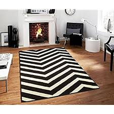 Black And Brown Area Rugs Amazon Com Garland Rug Chevron Area Rug 5 By 7 Feet Large