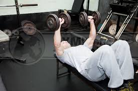 Flat Bench Dumbbell Flat Bench Press