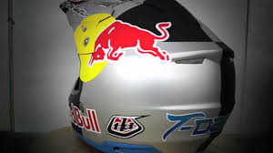 design your own motocross gear troy lee designs painting tyler medaglia u0027s red bull helmet youtube