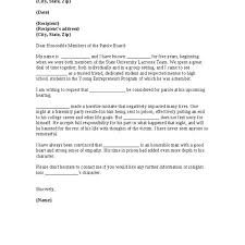 sample letter to parole board from mother format