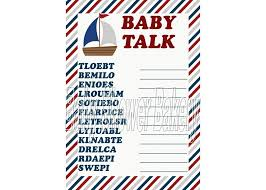 nautical baby shower game nautical theme baby word scramble
