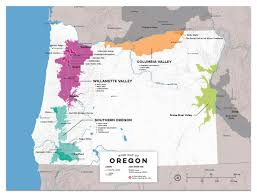 State Map Of Oregon by Detailed Map Of Wine Regions In Oregon Usa Wine Posters Wine