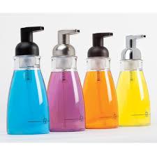 amazon com interdesign foaming soap dispenser for bathroom or