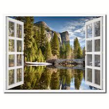 Yosemite Home Decor Wall Art Bridal Veil Falls Yosemite National Park California Picture Window